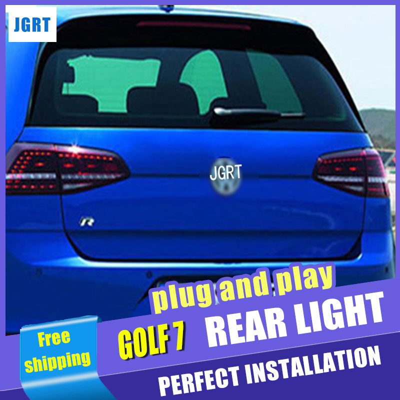 Car Styling for VW Golf 7 Taillight assembly 2013-2014 Golf 7 R LED Tail Light MK7 Rear Lamp LED DRL+Brake+Park light with 2pcs. new high quality 1 piece led dark red tail lamp tail light right fit for vw golf gti r mk7 2013 2016 5g0 945 208 5g0945208