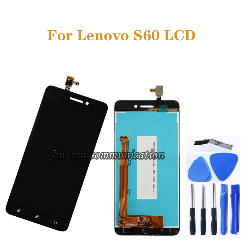 for Lenovo S60 LCD + touch screen digitizer component replacement for Lenovo S60W S60T S60A S60 a display screen repair kit-in Mobile Phone LCD Screens from Cellphones & Telecommunications