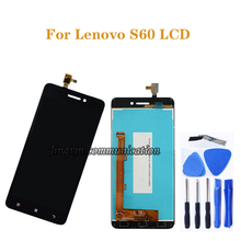 for Lenovo S60 LCD + touch screen digitizer component replacement for Lenovo S60W S60T S60A S60-a display screen repair kit original black white touch screen touchscreen digitizer lcd display for lenovo s60 s60 t s60 w free shipping with tracking no