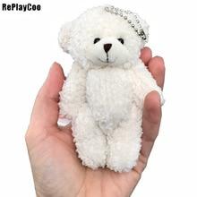 50 шт./лот мини-соединение медведь плюшевые игрушки цепи белый gummy Медведи 12 см животное для свадьбы peluches bicho ursinho de pelucia