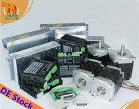 EU Free! Wantai 4 Axis Nema34 Stepper Motor WT86STH118 6004A 1232oz in+Driver 80V 7.8A 256Micro