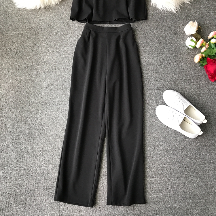 HTB1DEZtVyrpK1RjSZFhq6xSdXXa8 - two piece set women fashion sexy short top and long pants casual sleeveless Elastic high waist female summer festival clothing