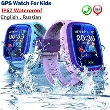 ФОТО waterproof tracker gps bracelet for kids swim touch screen sos call location smart watch wearable devices for smart phone app
