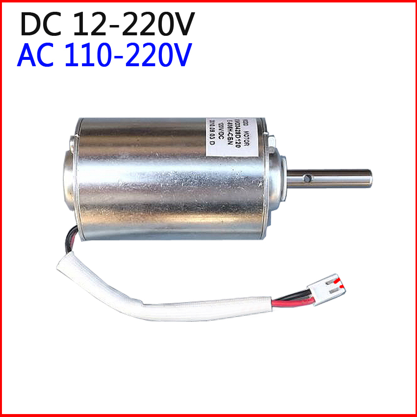 0 6000rpm high torque gear box powerful dc ac motor 12v for Ac and dc motor