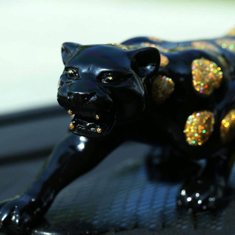 Car Ornament Golden Silver Money Leopard Shape Per