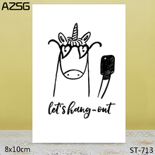 AZSG Lovely Unicorn Clear Stamps For DIY Scrapbooking/Card Making/Album Decorative Silicon Stamp Crafts