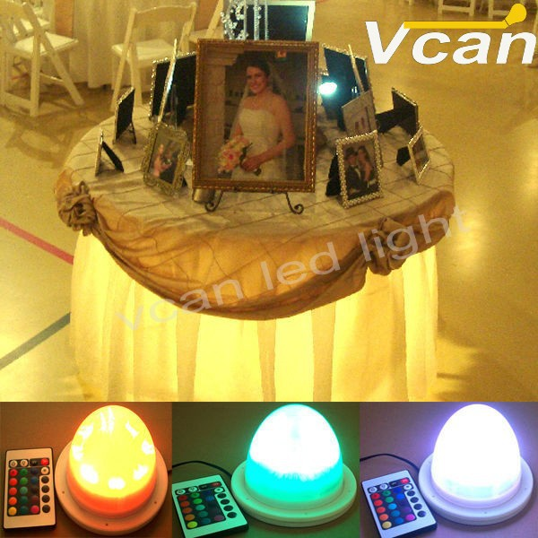 led light under table for wedding or eventing