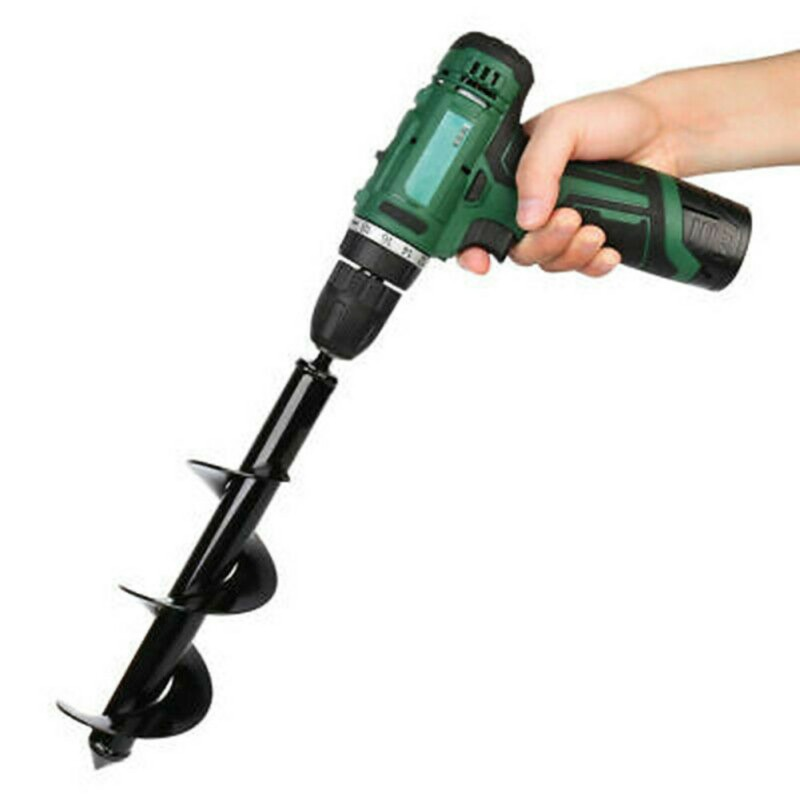 Hex Shank Small Planter Spiral Drill Bit 9 Inch Excavation Depth Electric Cordless For Garden Planting Hole Digger Power