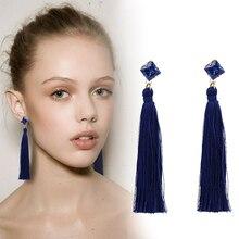 Vintage Fringe Long Tassel Earrings Luxury Rhinstone Dangle Drop Natural Earrings For Women Bohemian Earrings Boho