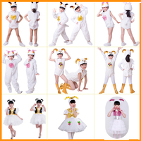 Children Sheep Costume Kids Animal Cosplay Performance Dance Dress Clothing 90 160cm size