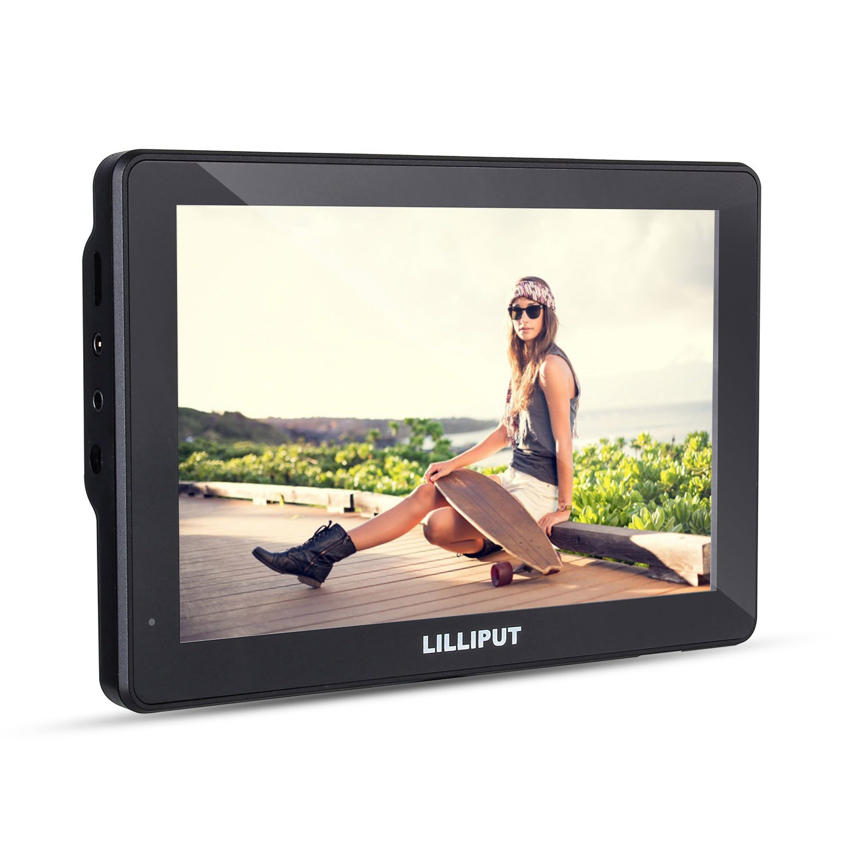 Lilliput MoPro7 DSLR Camera with 2600mAh Built-in Battery HDMI & AV Input Specific Monitor for GoPro Hero 3+ 4 Sony Canon Nikon