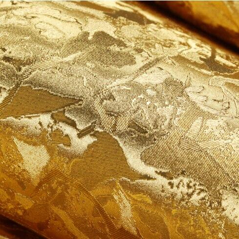 Moderne luxe or argent papier peint feuille d'or papier peint rouleau salon chambre fond papier peint pvc étanche réfléchissant - 6