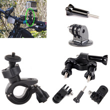 Cycling Mount Kit for Gopro Hero 5 4 Black silver Session Bike Handlebar Mount go pro accessories