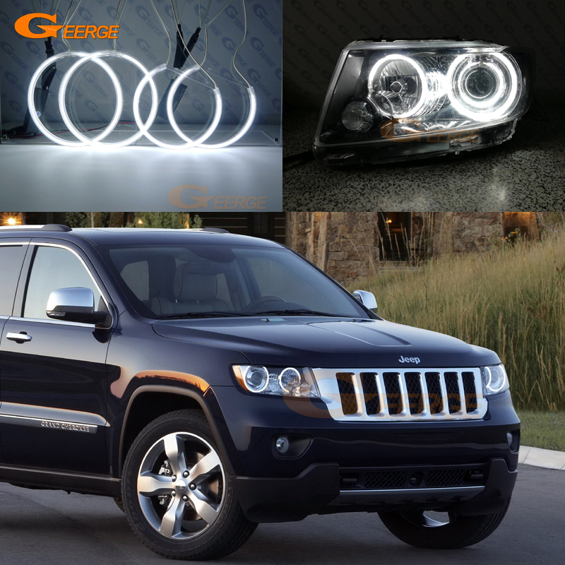 For JEEP GRAND CHEROKEE 2011 2012 2013 Xenon headlight Excellent Ultra bright illumination CCFL Angel Eyes kit Halo Ring hochitech excellent ccfl angel eyes kit ultra bright headlight illumination for ford edge 2011 2012 page 2