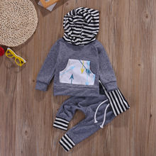 Newborn Baby Boys Girls Clothes Set Warm Outfits Tops Hoodie Top + Pant Leggings Cute Kids Baby Clothes