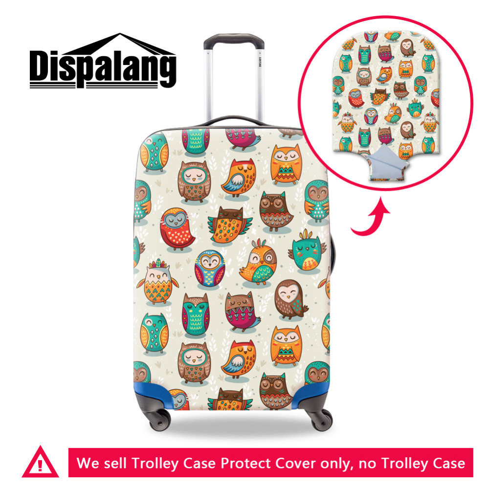 Dispalang Animal owl Pattern Elastic Luggage Protective Covers for 18 30 Inch Trolley Suitcase Cover Zipper