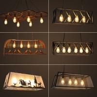 Industrial Indoor lighting Bird cage restaurant cafe bar desk study chandelier retro bird balcony chandelier