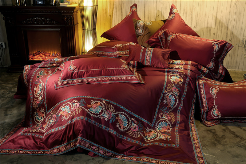 New100S Egyptian Cotton Luxury Embroidery Bedding Sets King Queen Size 4/6Pcs Duvet Cover Set BedSheet /Pillowcase Bed coverNew100S Egyptian Cotton Luxury Embroidery Bedding Sets King Queen Size 4/6Pcs Duvet Cover Set BedSheet /Pillowcase Bed cover