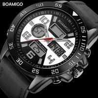 Men Sports Watches BOAMIGO Brand Watches For Men Fashion Quartz Wristwatches 30M Waterproof LED Digital Clock Relogio Masculino