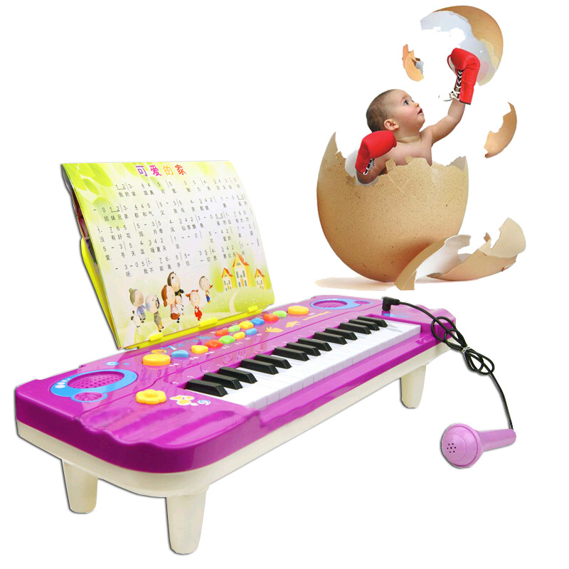 ФОТО Children's multi-function music electronic organ Little male girl baby piano early childhood educational toys 2-3-4 years old