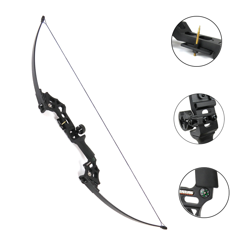 50 30 40lbs Takedown Straight Bow Traditional Bow Longbow Outdoor Hunting Bow Gym Archery Target Shooting Practice Game Bow