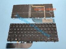 Yeni İngilizce dell için klavye XPS 13 9343 13 9350 9360 dizüstü İngilizce klavye arkadan aydınlatmalı