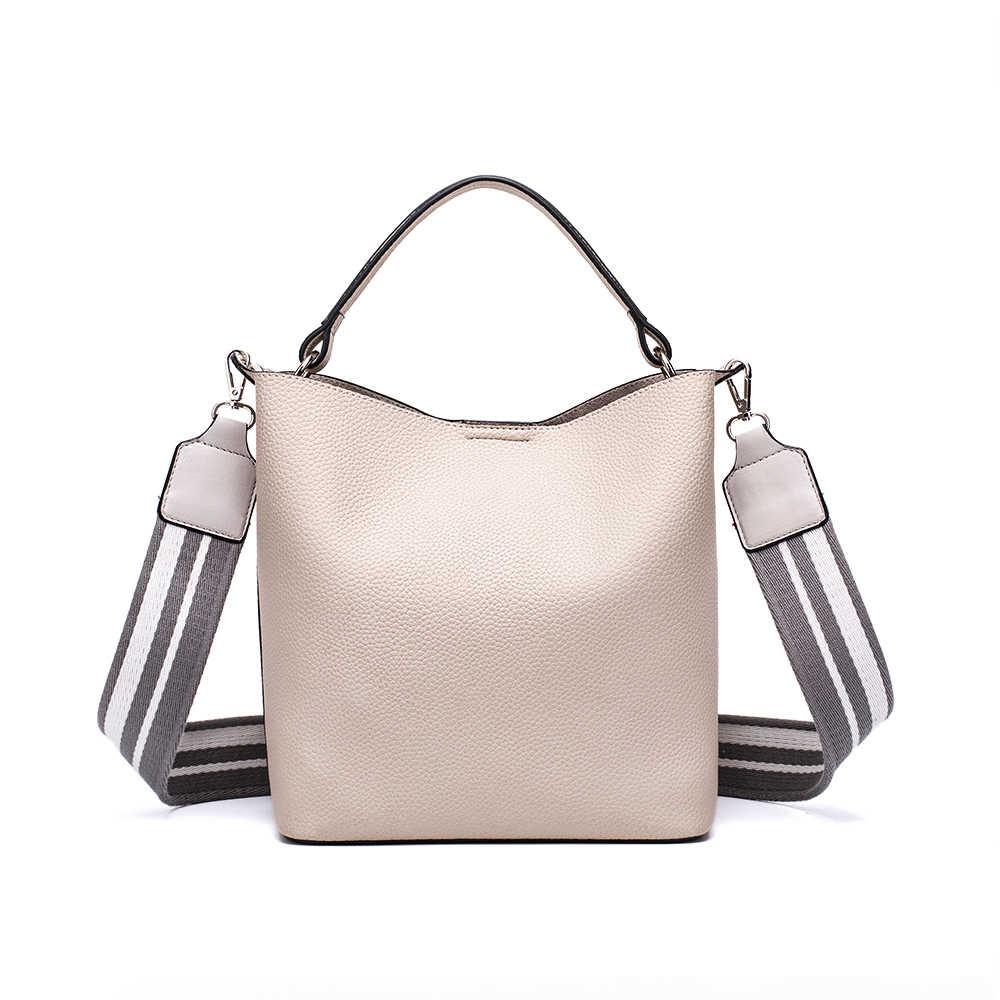 b71e6b47c1f5 ... MIYACO Casual Women Handbag Soft leather Shoulder bags White Mini Tote  Crossbody bag with Canvas Shoulder