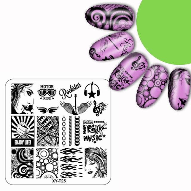 32 teile/satz Blume Pflanze Muster Bild kunststoff Nail Stamping ...
