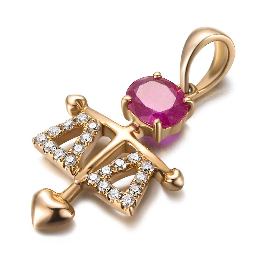 Большая скидка! Серьги GVBORI из натуральных жемчужин рубиновый бриллиант роза золотое ожерелье с подвеской [Libra] ювелирные украшения на День святого Валентина