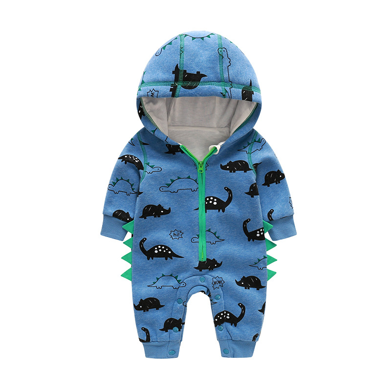 Orangemom Offical Store New Blue Dinosaur Sweater Hooded 3M-24M Newborn Baby Cartoon Clothing Boy Girl Climbing Rompers JumpsuitOrangemom Offical Store New Blue Dinosaur Sweater Hooded 3M-24M Newborn Baby Cartoon Clothing Boy Girl Climbing Rompers Jumpsuit