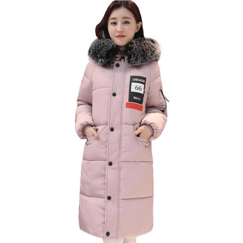 New Fashion Women Winter Cotton Coat Jackets Hooded Thick Wadded Jacket Plus Size Outerwear Fur Collar Long Parkas PW1010 women winter jacket 2017 new fashion ladies long cotton coat thick warm parkas female outerwear hooded fur collar plus size 5xl