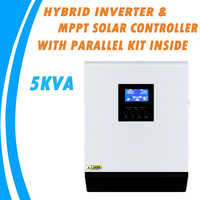5KVA Pure Sine Wave Hybrid Inverter 48V 220V Built-in MPPT 60A PV Charge Controller AC Charger with Parallel Kit Inside MPS-5K