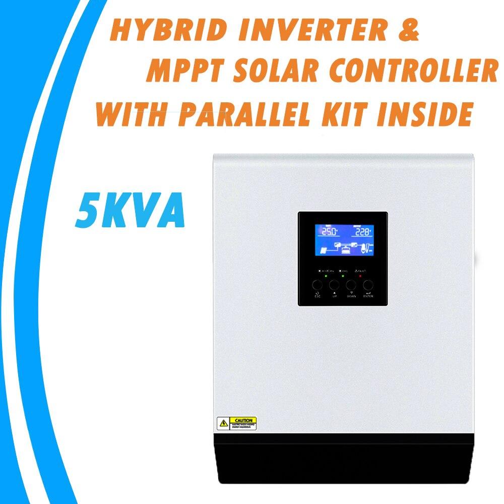 5KVA pura onda sinusoidal inversor híbrido 48V 220V incorporado MPPT 60A controlador de carga PV cargador de CA con Kit paralelo dentro MPS-5K
