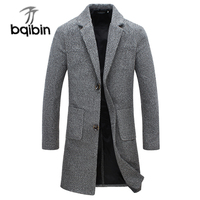 2018 New Fashion Designer Long Mens Coat Mens Trench Coat Autumn Winter Windproof Slim Trench Coat Men Plus Size