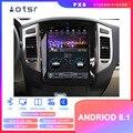 Android 8 1 Tesla стиль Автомобильный GPS навигатор для Mitsubishi Pajero 4 Montero 2006 + Авто Радио Coche головное устройство мультимедиа CD плеер