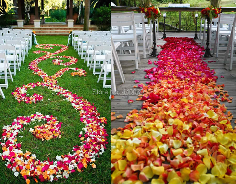 Buy 5000pcs bulk silk rose petal 40 for Where can i buy wedding decorations