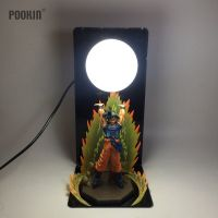 New Dragon Ball Son Goku Explosion Bombs Luminaria Led Night Table Lamp Holiday Gift Room Decorative