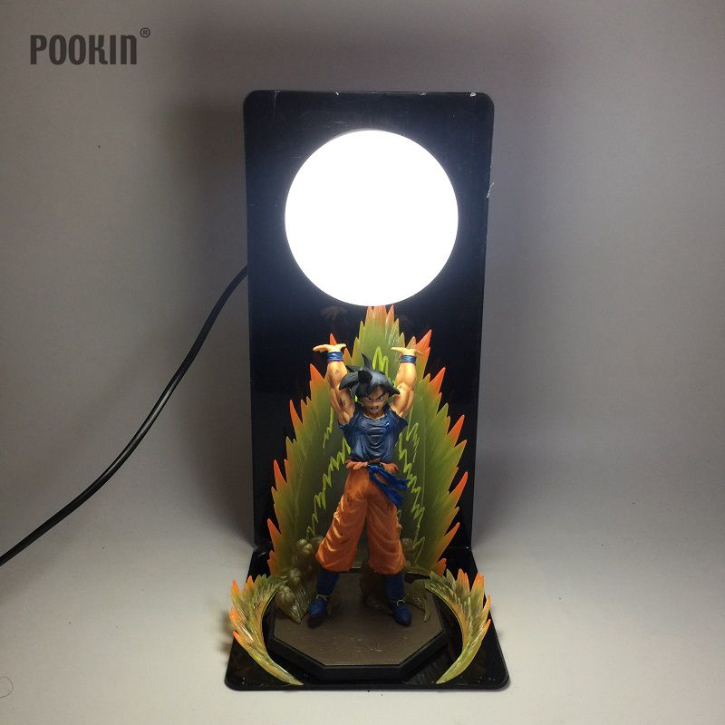 New Dragon Ball Son Goku Explosion Bombs Luminaria Led Night Table Lamp Holiday Gift Room Decorative Led Lighting In EU US Plug 2018 3m 220v 20pcs car models night lamp kid children room decor paper string lighting holiday lights eu uk plug luminaria