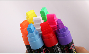 Image 4 - Flashcolor Highlighter bolígrafos marcadores para Pizarra de 15mm, líquido, punta ancha para tablero de escritura LED, 8 uds, rotulador para ventana borrable no tóxico