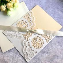 10 шт./упак. свадьба в европейском стиле Пригласительные открытки лазерные вырезы приглашения любовь птицы поздравительные открытки свадебные принадлежности