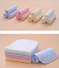 10pcs lot 3 Layers Ecological Cotton Baby Cloth Nappy Inserts Reusable Washable Diapers Nappy Liners Nappy