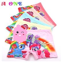 hot deal buy 5 pcs/lot 3d print breathable cartoon horse girls boxer kid panties children underpants baby briefs 3-10 years