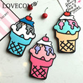 New! Hot Cartoon 3D Ice Cream Soft Silicon Phone Back Cover Phone Case For iPhone 5 5S SE 6 6S 6Plus 6SPlus 7 7 Plus Coque
