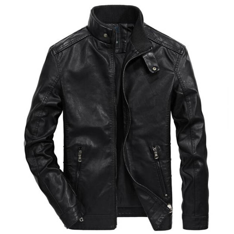 2018 Fashion Autumn Jackets Men Outwear Thin Windbreaker Jacket PU Motorcycle Leather Jacket Coats jaqueta de couro masculino