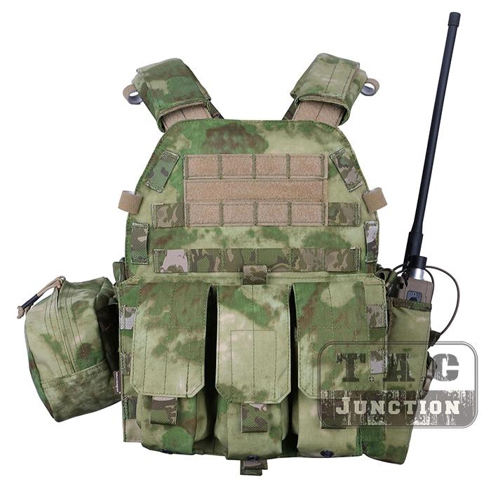 Emerson Tactical Modular MOLLE LBT-6094A Plate Carrier EmersonGear LBT 6094A Combat Vest w/ M4 M16 5.56 .223 Magazine Pouches emerson molle tactical lbt 6094 slick large plate carrier emersongear lbt 6094 lightweight body armor combat vest
