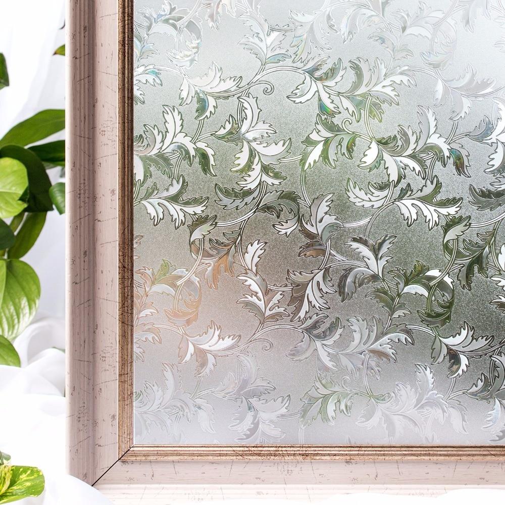 CottonColors PVC Impermeável Quarto Decorativa Privacidade Estática Window Film Tampa Sem Cola 3D 45 Etiqueta De Vidro Tamanho x 200 cm