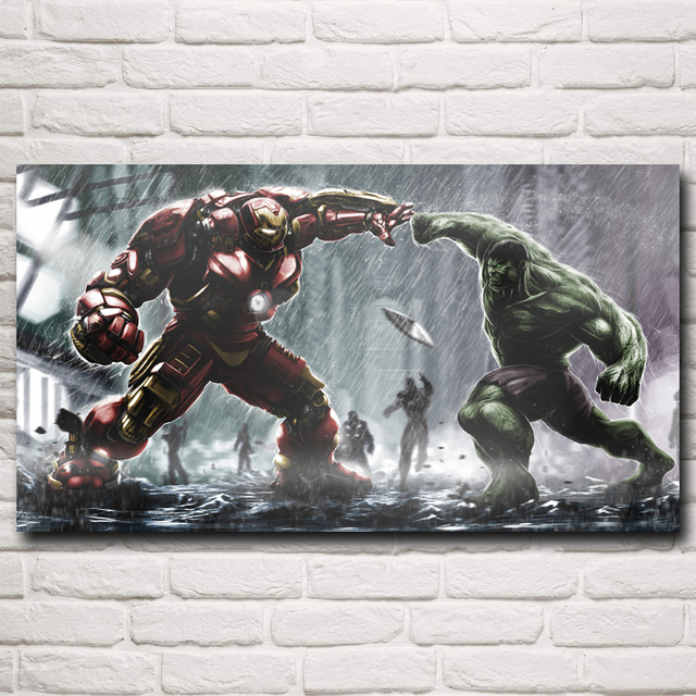 Superhero The Avengers Movie Iron Man Art Silk Poster Prints Home Wall Decor Painting 11×20 16×29 20×36 Inches Free Shipping