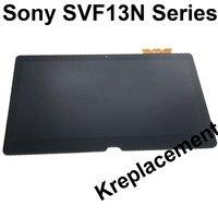 Для sony Vaio Flip 11 SVF13NA1UL SVF13N17PXB 13,3 светодиодный ЖК дисплей с сенсорным экраном Замена панели сборки FHD