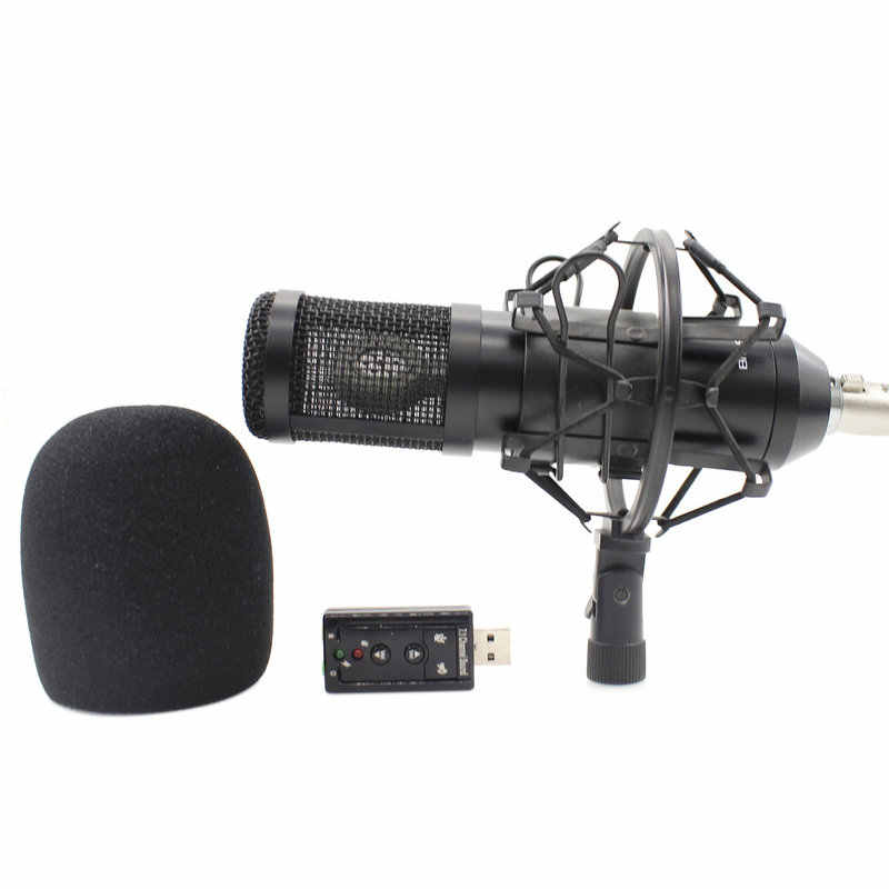 Mikrofon bm 800 Upgraded BM900 KTV Microphone Pro Audio Studio Vocal Sound Recording Mic for Computer Shock Mount