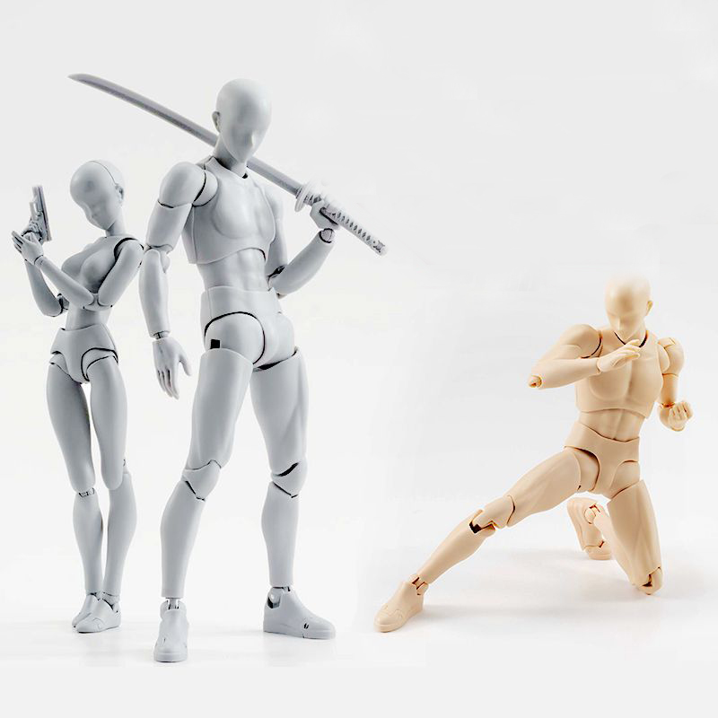 High Quality BODY KUN / BODY CHAN BJD Grey Color Ver. Black DX Set PVC Action Figure Collectible Model Toy(China)